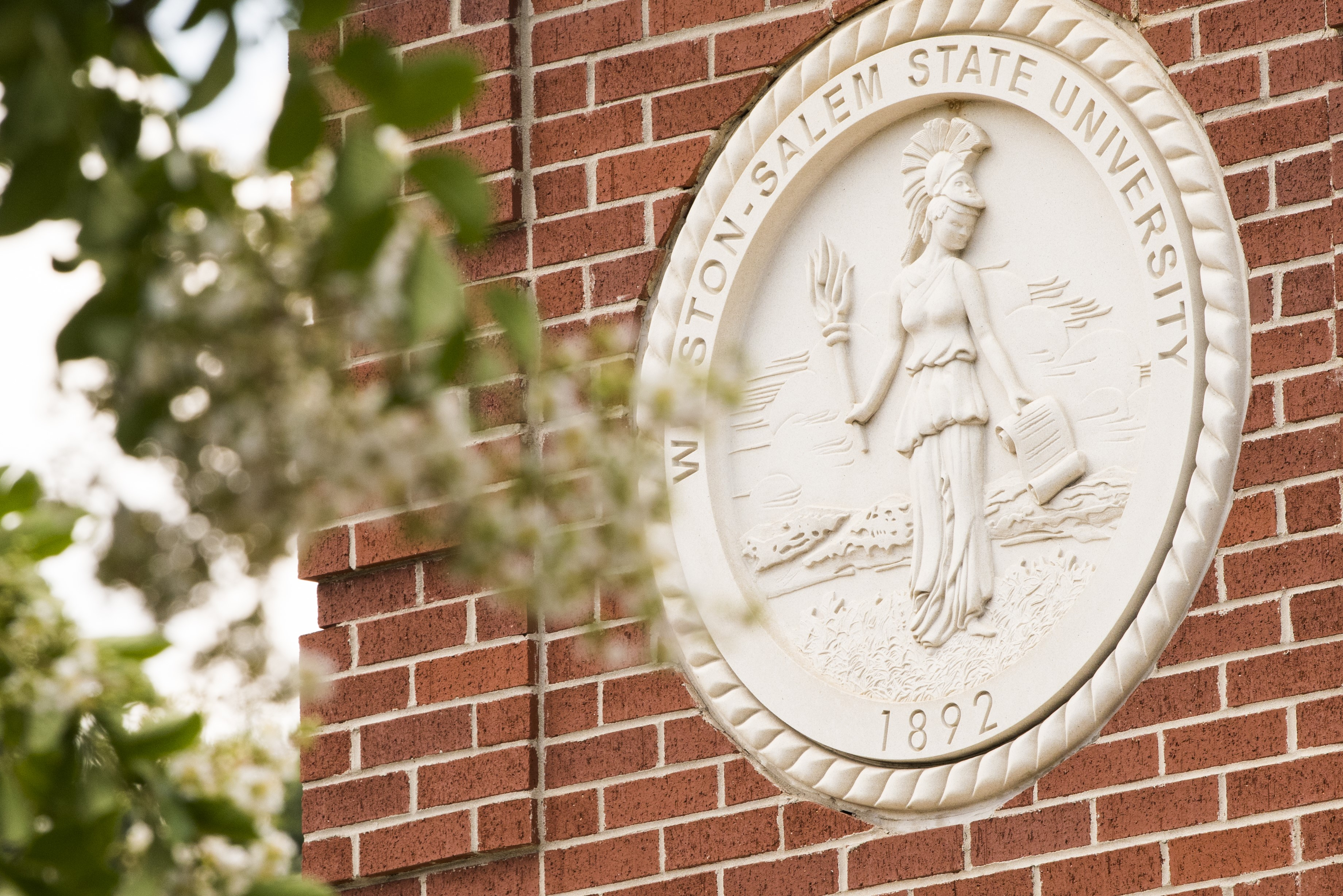 University Seal on the WSSU Clock Tower